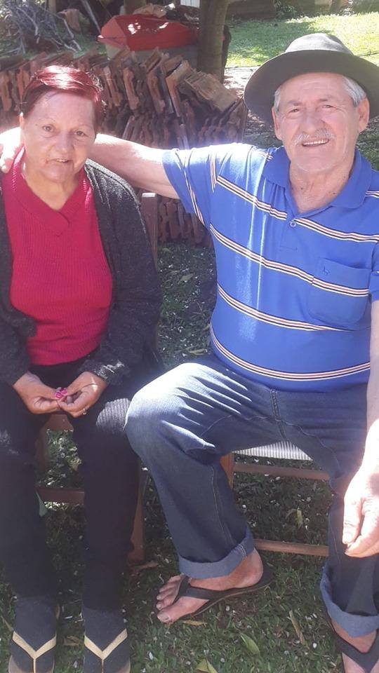 Delvino Zanco e Maria Soleni Zanco estavam juntos há mais de 50 anos (Foto: Reprodução)