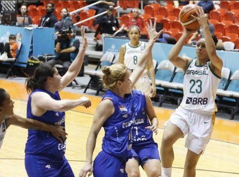 A seleção feminina brasileira de basquete atropela o Paraguai e vai à semifinal da Copa América