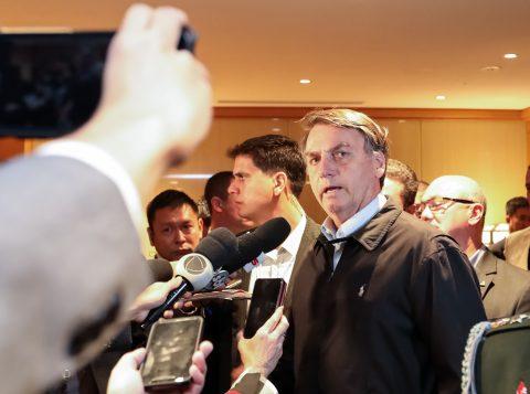 """Em Tóquio, Bolsonaro diz que 'o bem vencerá o mal"""" sobre a crise no PSL"""