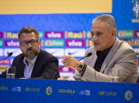 O técnico Tite convocará nesta sexta a Seleção Brasileira para os dois últimos compromissos da equipe neste ano