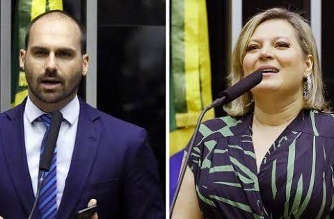 Eduardo Bolsonaro e Joice Hasselmann trocam ofensas nas redes sociais