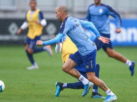 O Grêmio iniciou os preparativos para jogo contra o Bahia no Brasileirão