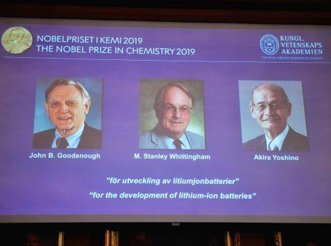 Nobel de Química 2019 vai para trio que desenvolveu baterias de íons de lítio
