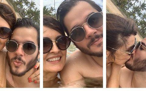 """Fátima Bernardes beija o namorado Túlio Gadêlha em uma série de fotos compartilhadas no Instagram: """"Sem medo de ser feliz"""""""