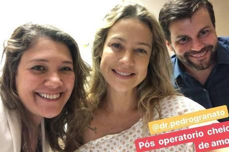 "Luana Piovani festeja fim de cirurgia plástica: ""Tudo lindo"""