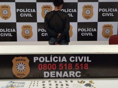 Mulher é presa por tráfico de drogas em Alvorada