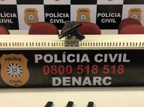 Pistola 9mm e munições são apreendidas na Zona Sul de Porto Alegre
