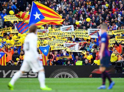 Adiado por protestos, clássico Barça x Real tem histórico político