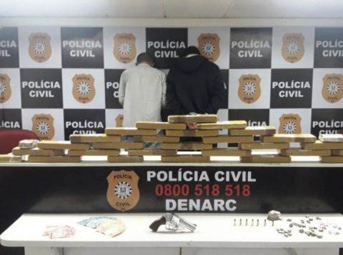 Polícia apreende 30 quilos de maconha no litoral gaúcho