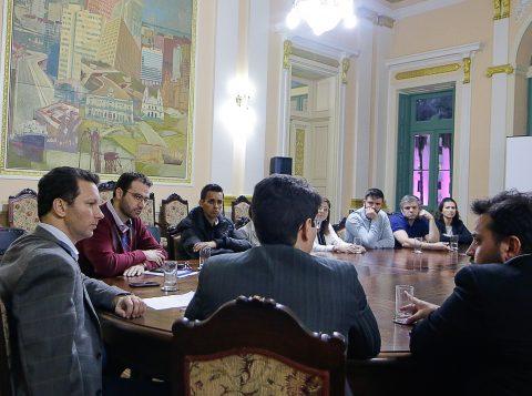 Prefeito Nelson Marchezan Júnior recebe representantes do Imesf