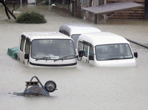 O número de mortos por passagem do tufão no Japão sobe para setenta e quatro