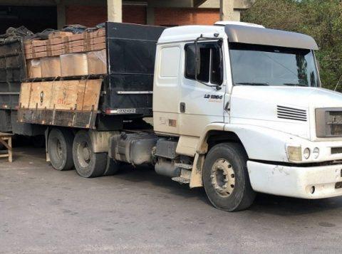 Ação da Receita Estadual flagra carga de papel para cigarros falsificados no Posto Fiscal de Torres