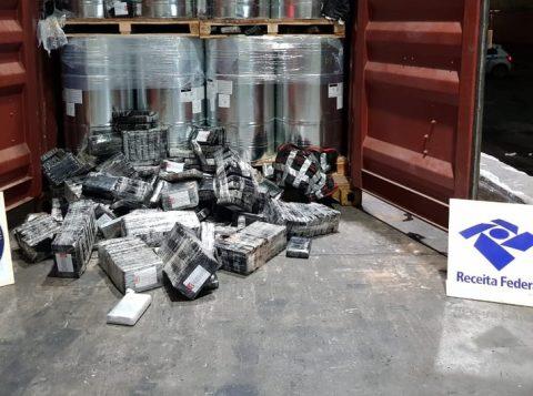Apreensões de cocaína em portos brasileiros aumentam 50% neste ano