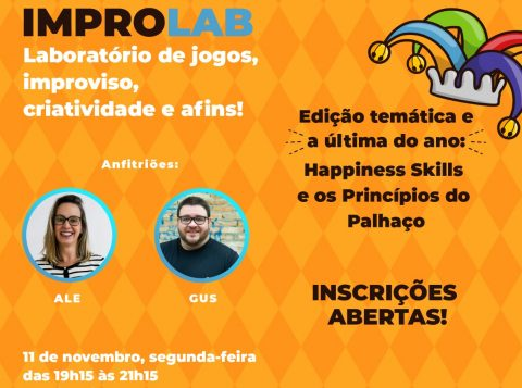 Princípios do palhaço e o desenvolvimento de pessoas são tema do Improlab na Capital gaúcha