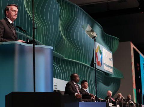 Bolsonaro diz a líderes do Brics que quer ampliar negócios com países do grupo