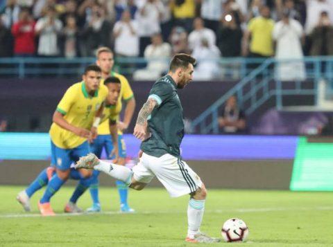 Brasil perde por 1 a 0 para a Argentina em amistoso na Arábia Saudita