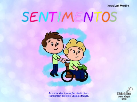 """Escritor Jorge Martins autografa a obra """"Sentimentos"""" na 65ª Feira do Livro de Porto Alegre neste domingo (10)"""