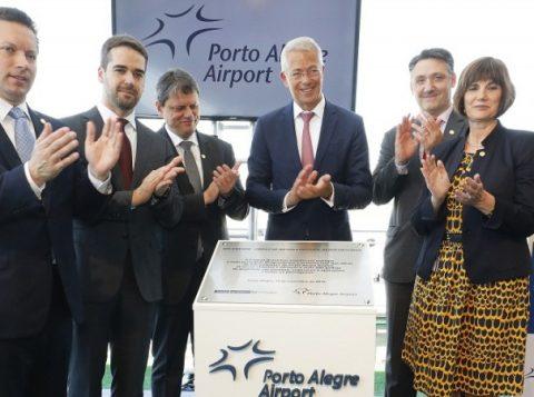 Primeira fase de obras do aeroporto de Porto Alegre foi entregue em solenidade nesta terça-feira