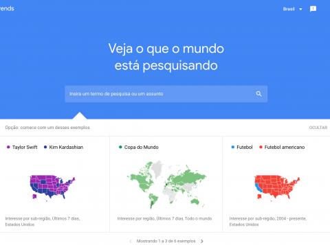 Qual é o time com mais pesquisas no Google?