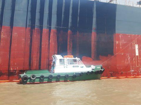 Porto de Rio Grande relata vazamento de óleo durante abastecimento de navio grego
