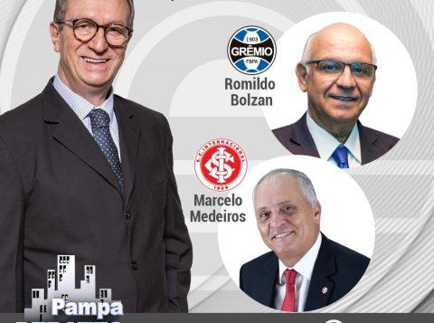Presidentes de Grêmio e Inter participam do programa Pampa Debates, da TV Pampa, nesta quarta