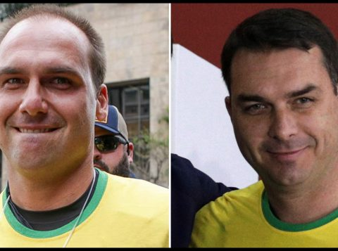 Flávio e Eduardo Bolsonaro devem integrar o comando do novo partido do pai