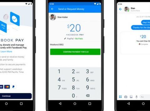 O Facebook lança um novo serviço de pagamentos para o WhatsApp, o Instagram e o Messenger