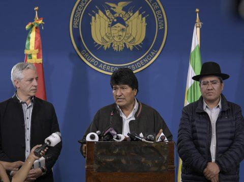 México oferece asilo a ex-presidente boliviano Evo Morales