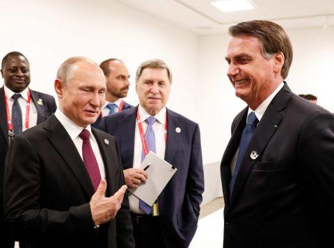 Bolsonaro e Putin conversarão sobre a Bolívia durante a cúpula dos Brics